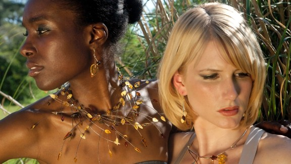 Zia Sachedina's jewelry mixes striking African color combinations with Western design.