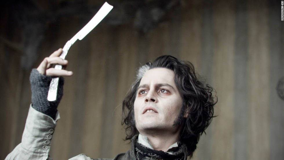 "Once again, Depp teamed up with Tim Burton. In 2007's ""Sweeney Todd: The Demon Barber of Fleet Street,"" Depp straight-razored his way to a Golden Globe award for best actor."
