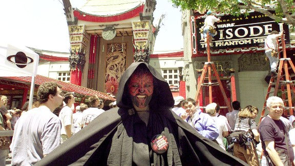 """Moviegoers get ready for the first """"Star Wars"""" prequel."""