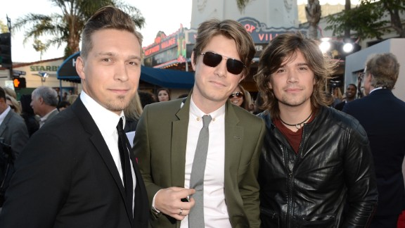 Isaac, Taylor and Zac Hanson in California, in May.