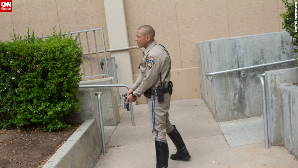 "During the campus lock down, <a href=""http://ireport.cnn.com/docs/DOC-985263"">iReporter Aleksandr Kats</a> photographed local law enforcement trying to secure the grounds of Santa Monica College."