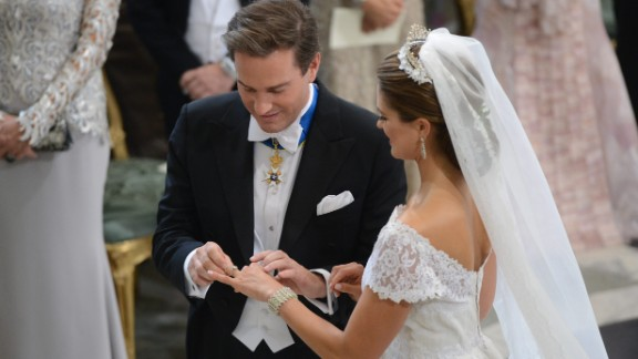 Royals! They're just like us except...no. They're not like us at all. Take a peek at some of the most storied royal weddings from the past 60 years. Princess Madeleine of Sweden and Christopher O'Neill exchange rings during their wedding ceremony in Stockholm on June 8, 2013.