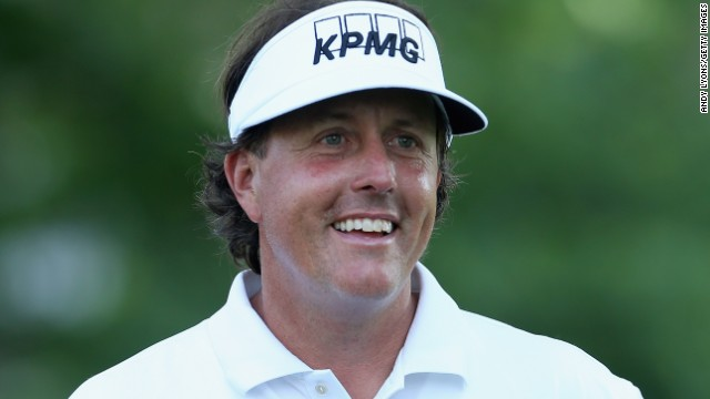 Phil Mickelson is all smiles as he charges into contention at the St. Jude Classic in Memphis