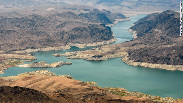 An aerial view of the Lake Mead National Recreation Area, Arizona.