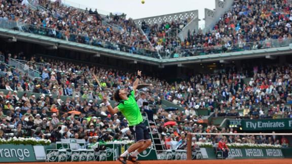 Ferrer serves to Nadal.