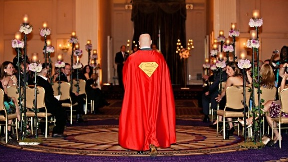 On his wedding day in 2011, Robert Levine donned a Superman cape while walking down the aisle. The orchestra played the John Williams score from 1978