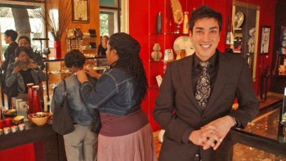 Sachedina pictured in his flagship store Zia Boutique, in Savannah, Georgia, which he opened in 2005.