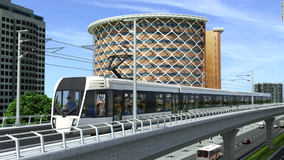 An artist's impression of the new $2.1 billion Hyderabad Metro system which aims to provide a new mode of daily transport for up to 1.7 million of the southern Indian city's residents by 2017.