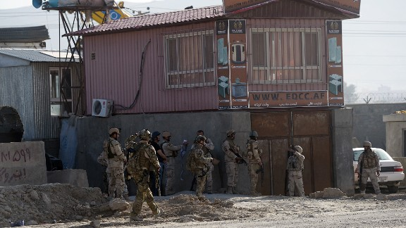 Afghanistan and international security forces take position June 10.