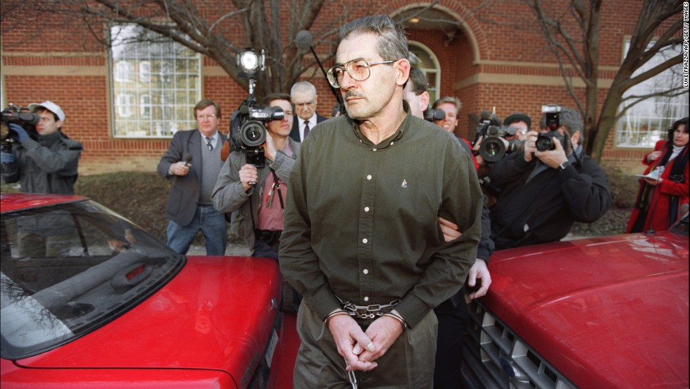 Aldrich Ames, a 31-year CIA employee, pleaded guilty to espionage charges in 1994 and was sentenced to life in prison. Ames was a CIA case worker who specialized in Soviet intelligence services and had been passing classified information to the KGB since 1985. U.S. intelligence officials believe that information passed along by Ames led to the arrest and execution of Russian officials they had recruited to spy for them.
