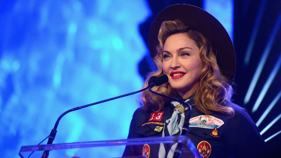 """Pop diva Madonna's name means """"Virgin Mary,"""" the woman historically known as the mother of Jesus Christ. Although she was born with the name, religion has played a large part in some of the songstress' tunes, such as """"Like a Virgin"""" and """"Like a Prayer."""""""