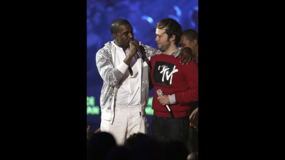 "November 2006: Kanye really doesn't like losing, and he reminded us of that at the MTV Europe Music Awards in November 2006, when he stage-crashed Justice vs. Simian's best video win for ""We Are Your Friends."" Clearly, his video ""Touch the Sky"" should've won because ""it cost a million dollars, and Pamela Anderson was in it."" Having a ""sippy sippy"" pre-awards show might convince one of such merits."