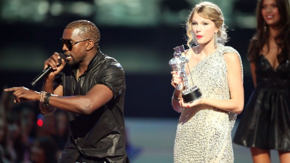 September 2009: Even with his noted troublemaking at past awards shows, no one -- including West -- had figured out by September 2009 that they weren't the best places for him to hang out. What transpired at the MTV event is one of the most infamous moments in live TV, as he interrupted Taylor Swift during her acceptance speech for the best female music video.