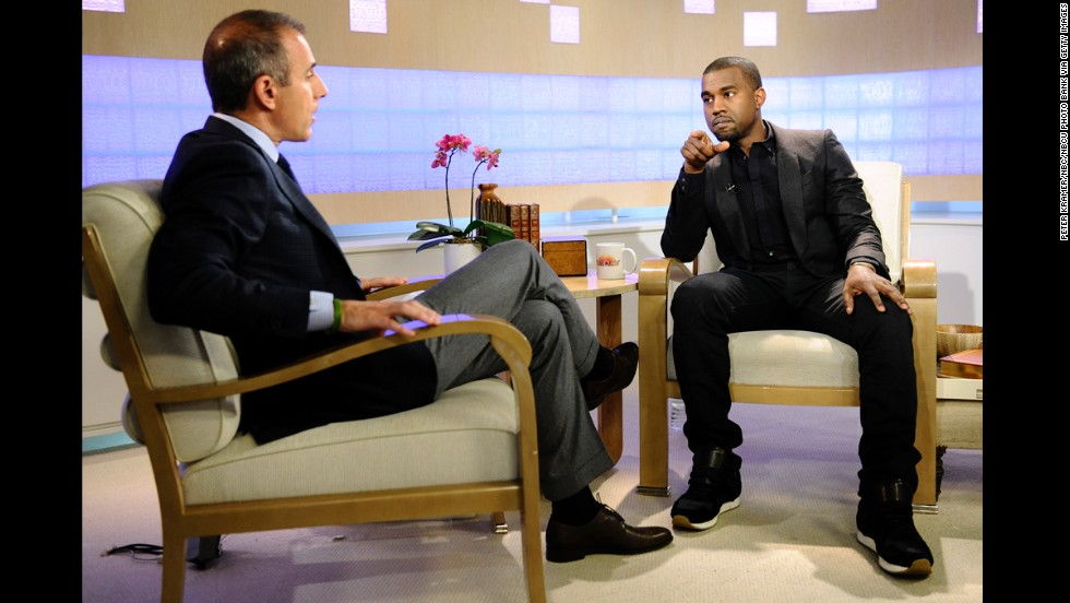 "<strong>November 2010</strong>: While gearing up to release ""My Beautiful Dark Twisted Fantasy,"" West did a promotional appearance on ""Today"" with Matt Lauer -- one that <a href=""http://latimesblogs.latimes.com/gossip/2010/11/kanye-west-matt-lauer-george-bush.html"" target=""_blank"">quickly turned sour</a> and led to him canceling his performance on the show."