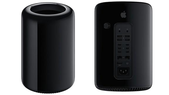 The sleek black Mac Pro doesn