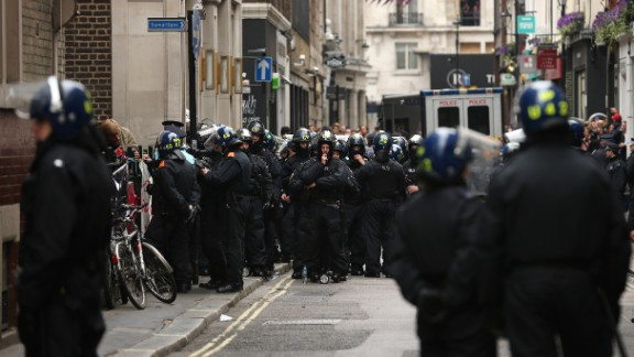 Police diffuse anti-G8 protesters on June 11.