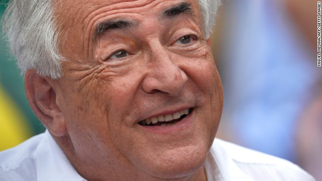 Former IMF chief Dominique Strauss-Kahn watches French Open final match in Paris on June 8, 2013.