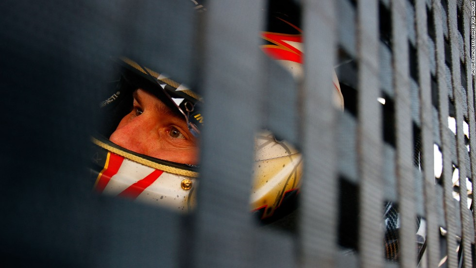 Leffler sits in his car during practice for the NASCAR Nationwide Series DRIVE4COPD 300 at Daytona International Speedway in Daytona Beach, Florida, on February 16, 2011.