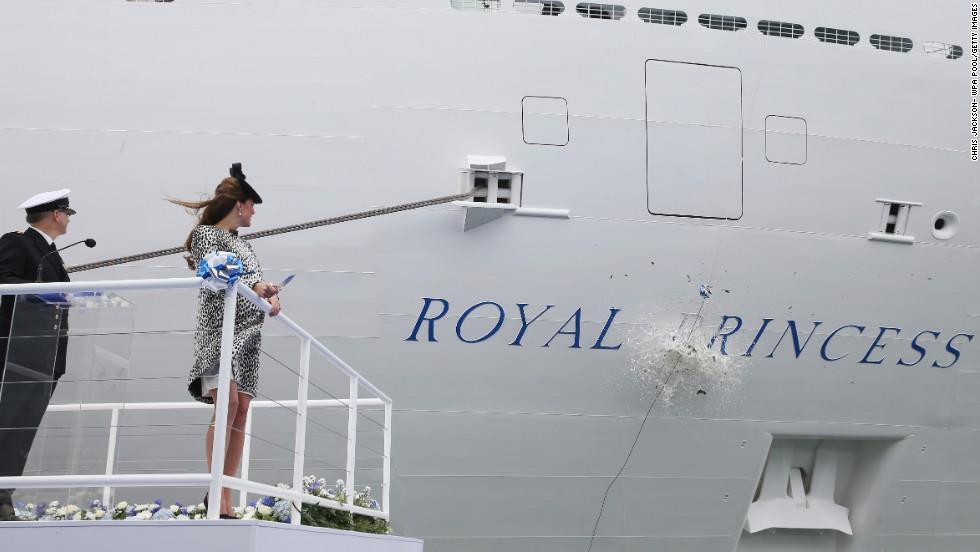 Pregnant Catherine Duchess Of Cambridge Names Cruise Ship CNN - Names for cruise ships