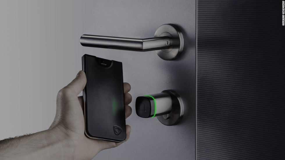 "These days you're more likely to forget your house keys than your smartphone, so combine the two with <a href=""http://www.calypsocrystal.com/blog/calypsokey"" target=""_blank"">CalypsoKey</a>. It lives inside an iPhone case which, when you tap it to its corresponding access point, activates near-field communication technology and a dual-band RFID antenna - unlocking the door."
