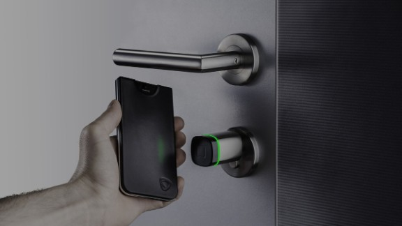 These days you're more likely to forget your house keys than your smartphone, so combine the two with CalypsoKey. It lives inside an iPhone case which, when you tap it to its corresponding access point, activates near-field communication technology and a dual-band RFID antenna - unlocking the door.
