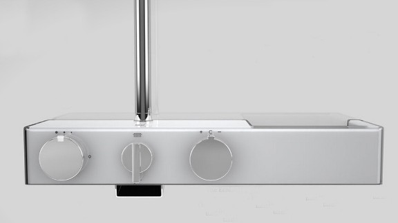 With this Oras Eterna smart shower, a green light indicates you beat the recommended two-minute splash and a red light shows you've showered beyond your share. A touch interface switches flow from showerhead to spout wash, and precise temperature adjustments ensure you won't scald or freeze.