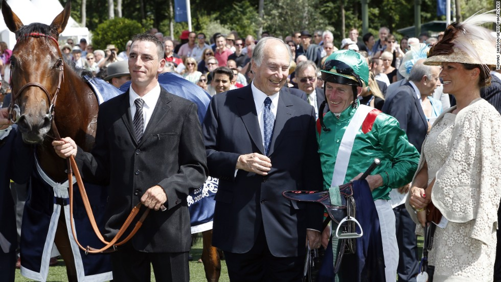 """I had done this sort of work in the developing world, restoring historic sites, but never here,"" said the Aga Khan (pictured center), who also has an office in Chantilly. The $3.3 million makeover was half funded by the renowned horse owner, with the remaining amount covered by the French Ministry of Culture, the region of Picardy and the Institut de France."