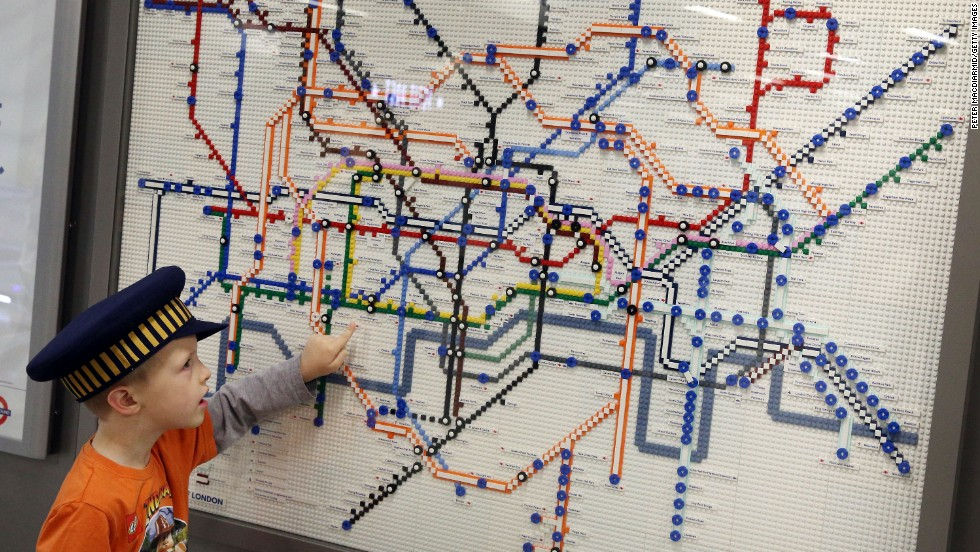 """We hope the maps will inspire the young engineers of the future,"" said a London Underground spokesman. The Lego maps will be displayed at Tube stations throughout the summer."