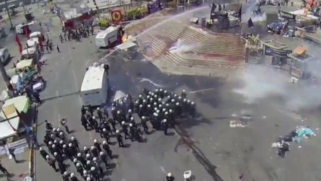A drone's view of riot zone