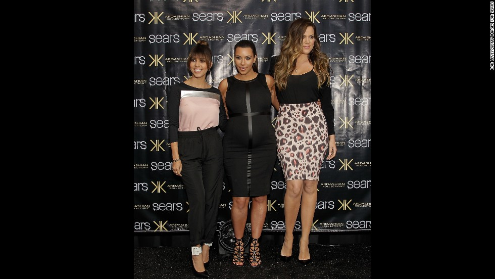 Kourtney, Kim and Khloe all sport their Kardashian Kollection in May.