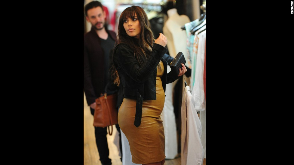 Kim Kardashian shops in New York in March.