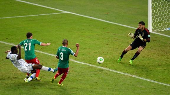The AC Milan striker fired past Jose Corona in the second half at Rio's Maracana Stadium.