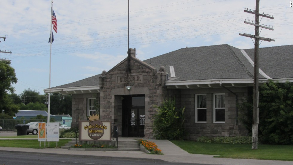 Housed in a 1912 railroad depot, the exhibits at the Idaho Potato Museum in Blackfoot, Idaho, include potato farming equipment and all kinds of potato trivia.