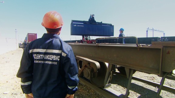 Chinese and European railways use different gauges than their Russian and former Soviet-nation counterparts, meaning cargo has to be transferred to suitable carriages at the borders of Kazakhstan and Germany.