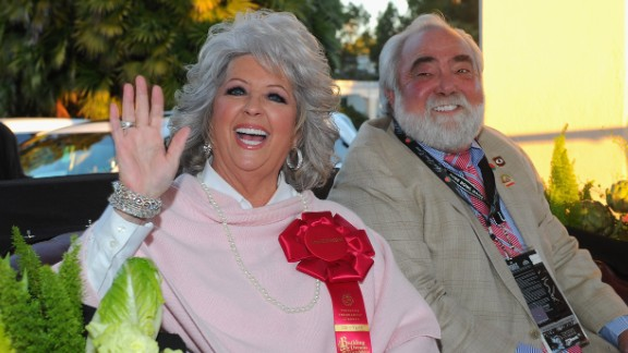 Deen leads the 122nd Annual Tournament of Roses Parade as grand marshal with her husband, Michael Groover, in Pasadena, California, in 2011.
