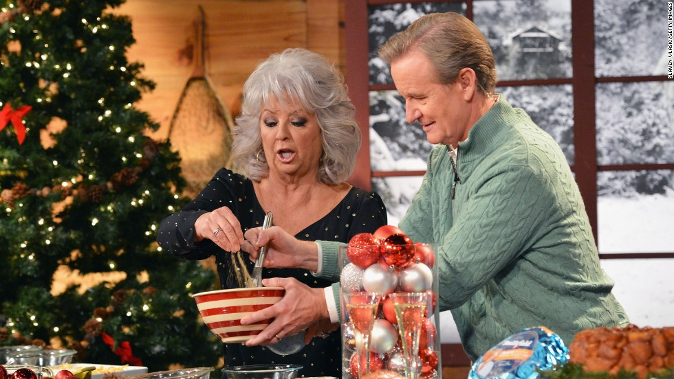 "Deen and Steve Doocy host the ""Fox & Friends Christmas Special"" in 2012 in New York."
