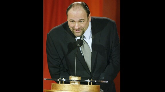 Gandolfini speaks at the 9th Annual Critics