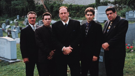 "The cast of ""The Sopranos,"" from left, Tony Sirico, Steve Van Zandt, James Gandolfini, Michael Imperioli and Vincent Pastore."