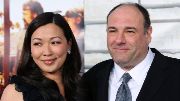Gandolfini with his wife, Deborah Lin, at the premiere of HBO Films