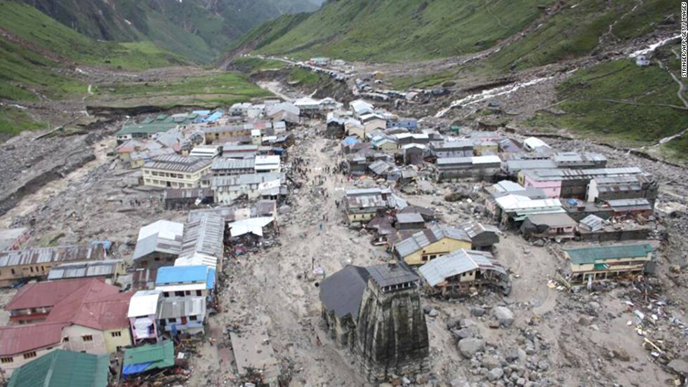 The holy Hindu town of Kedarnath, located in the Himalayan state of Uttarakhand, India, was struck by torrential monsoon rain on June 18, 2013.