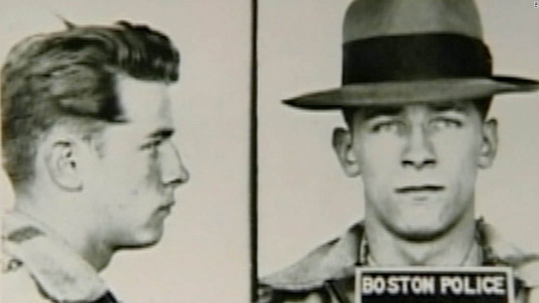 Mug shots of Bulger in 1953, about a year after his honorable discharge from the U.S. Air Force.