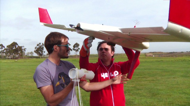 Unmanned aircraft delivers burritos