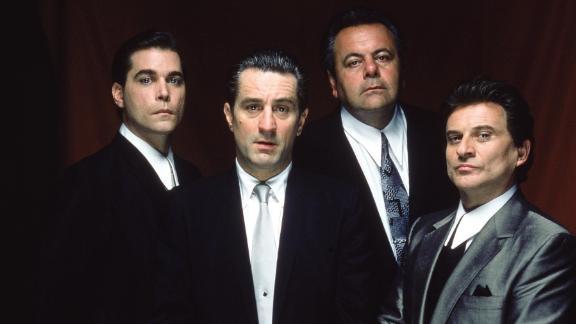 "From left, Ray Liotta, Robert De Niro, Paul Sorvino and Joe Pesci in the mob drama ""Goodfellas"" (1990)."