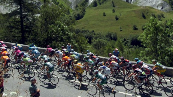 The near 200-strong peloton in the modern Tour de France tackle some of the most picturesque and intimidating terrain during their 3,000km plus journey.