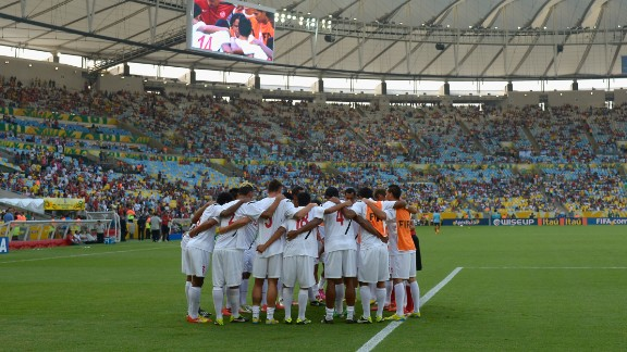 Tahiti form a huddle before their showdown with World and European champions Spain. The minnows are ranked 137 places below their opponents and eventually lost their Confederations Cup match 10-0 in Brazil.