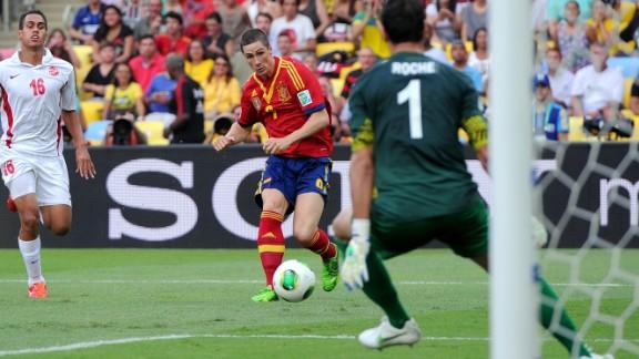 Fernando Torres grabbed four goals in Spain