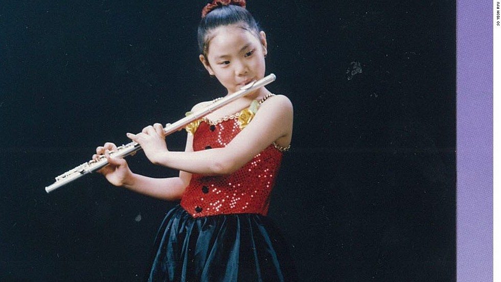 Ryu gave up her childhood dream of becoming a musician after taking up golf at elementary school.