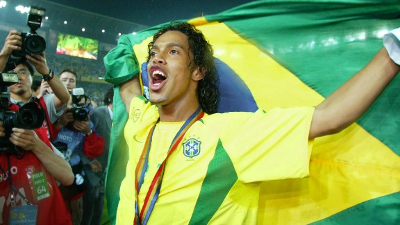 While Ronaldo was the star man in Japan and South Korea, he was ably supported by flamboyant playmaker Ronaldinho. Ronaldinho