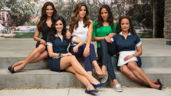 "The cast of ""Devious Maids"" from left: Roselyn Sanchez, Edy Ganem, Ana Ortiz, Dania Ramirez and Judy Reyes"