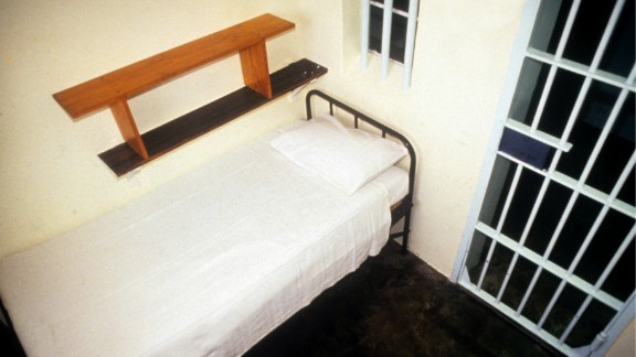 Mandela stayed in this prison cell on Robben Island.